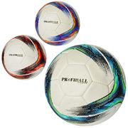 Мяч футбольный, размер 5, ПУ 1,4 мм, ручная работа, 32 панели, 400-420 г, 3 цвета, в кульке