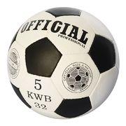 Мяч футбольный OFFICIAL, размер 5,ПУ, 1,4 мм, 32 панели, ручная работа, 420-430 г, в кульке