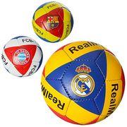 Мяч футбольный размер 5, ПУ 1,5 мм, ручная работа, 4 слоя, 32 панели, 400-420 г, 3 вида (клубы)