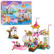 Конструктор BRICK замок принцессы, лодка, фигурки, 394 дет, в коробке 41-30-6,5 см
