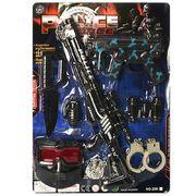 Набор полицейского, автомат 2 шт, нож, бинокль, наручники, маска, значок, на листе 38-53-4 см