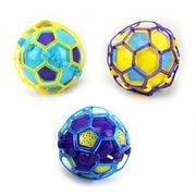 Мяч, 10 см, музыка, свет, 3 цвета, на батарейке (таблетка), в кульке, 10-10-10 см