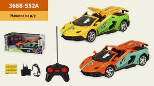Р.У. Машина на аккумуляторе, 2 цвета, в коробке 33*14,5*13 см, размер игрушки – 24*10*6 см