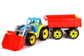 3688Т Іграшка Трактор з ковшем і причепом Технок