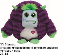 TY Monstaz 37112 Іграшка м'яконабивна зі звуковим ефектом Frankie 15см, арт. 37112 (шт.)