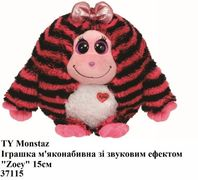 TY Monstaz 37115 Іграшка м'яконабивна зі звуковим ефектом Zoey 15см, арт. 37115 (шт.)