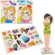 Набор игровой, на магнитах, одень куклу, 13 см, гардероб, микс видов, в коробке 15,5-25-1 см