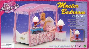 Мебель для кукол, кухня/спальня, на батарейке, музыка, свет, 2 вида, в коробке 38*9,2*21,5