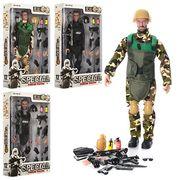 Солдат шарнирный, 29 см, сменные руки, оружие, шлем, рация, 4 вида, в коробке 21,5-35-6 см