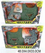 Военный набор с бронежилетом, в коробке 48*4,5*33