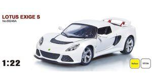 Машина металлическая АВТОПРОМ, 1:22, Lotus Exige S, 2 цвета, на батарейке, свет, звук, открываются