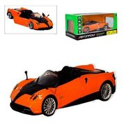 Машина металлическая АВТОПРОМ, 1:24 Pagani Huayra Roadster, на батарейке, свет, звук, открываются