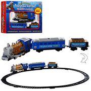 Железная дорога Голубой вагон, музыка (укр.), свет, дым, длина путей 282 см, в коробке 38-26-7 см