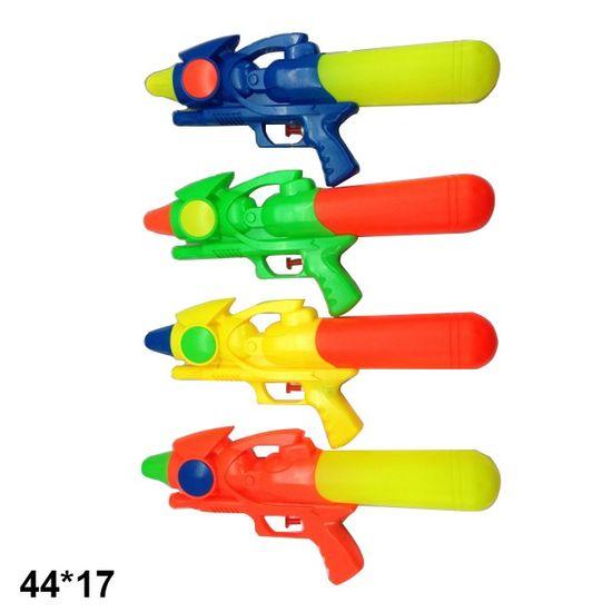 Водный пистолет 35 см микс 4 цветов в пакете 44х17