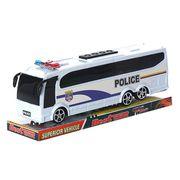 Автобус 818-5 инерционный, полиция, 25-7-5,5 см, в слюде 26-10-7,5 см