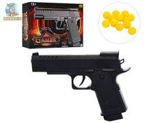 Пистолет, 16,5 см, на пульках, в коробке 19,5-19-4 см