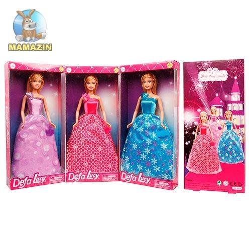 Кукла DEFA, 29 см, с сумкой, 3 вида, в коробке 15*5*32