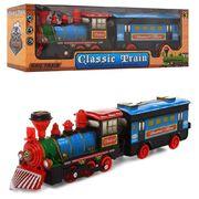 Поезд инерционный, с прицепом, 38 см, в коробке 39-13-8 см