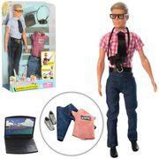 Кукла с нарядом DEFA Кен, фотоаппарат, ноутбук, 2 вида, в слюде, 23-33-6 см