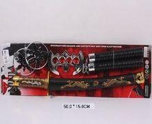 Набор оружия Ниндзя, меч, нунчаки, сюрикены, в коробке 50*24*7 см