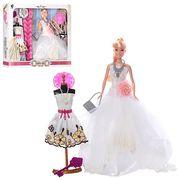 Кукла с нарядом невеста, 29 см, манекен, платье, расческа, шляпа, в коробке 37-33-7 см