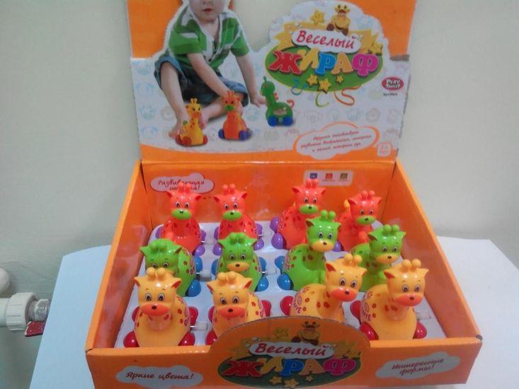 Жираф заводной Веселый жираф PLAY SMART микс 3 цветов