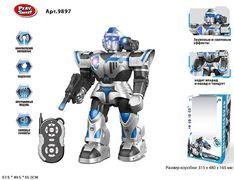 Р.У. Робот на батарейке PLAY SMART, звуковые эффекты, свет, ходит, танцует, в коробке 48*31,5*16,5