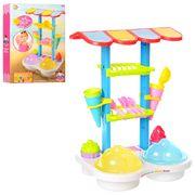 Набор для песочницы, кафе мороженое, формочки 6 шт, посуда, лопатка, в коробке 38,5-51-9 см