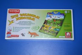 Плакат Эти забавные животные, обучение, на батарейке, в коробке 49-23-3,5 см