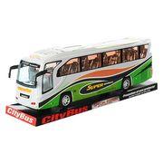 Автобус инерционный, 37-11,5-7,5 см, музыка, свет, на батарейке (табл.), в слюде, 39-13,5-10 см