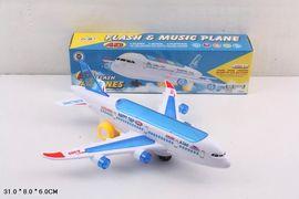 Самолет, на батарейке, свет, звук, в коробке 31*8*6 см