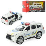 Машинка АвтоСвіт 1:36, металл, инерционная, полиция, 11,5 см, открываются двери, в коробке 14-7-6,5