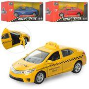 Машинка АвтоСвіт 1:36, металл, инерционная, 12,5 см, открываются двери, 3 цвета, в коробке 14-7,5-6,