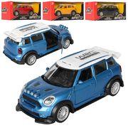 Машина Авто Світ, металл, инерционная,12,5 см, открываются двери, резиновые колеса, 4 цвета, в короб