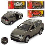 Джип АвтоСвіт, металл, инерционная, 11,5 см, звук , свет, открываются двери, 4 цвета, на батарейке (