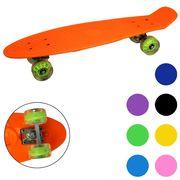 Скейт пластиковый, свет, PU колеса 6,5 см, 68*19 см, 2,30 кг, 7 цв.