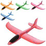 Самолет, пенопласт, 32 см, микс цветов, в кульке 9-32-3 см