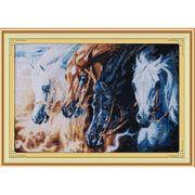 Тварини Непокірні коні 63х44 см