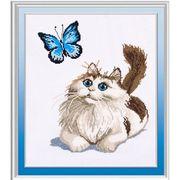 Тварини Кіт і метелик 46х56 см