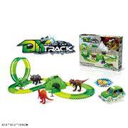Трек Dino, машинка с подсветкой, в коробке 42*32*10,5 см
