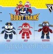 Трансформер  поезд, 5 видов, в коробке