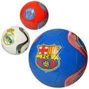 Мяч футбольный, размер 5, ПВХ 1,8 мм, 300-320 г, 3 вида (клубы)