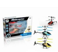 Р.У. Вертолет на аккумуляторе, 19 см, управление рукой, гироскоп, свет, USB-зарядка, 3 цвета, в коро