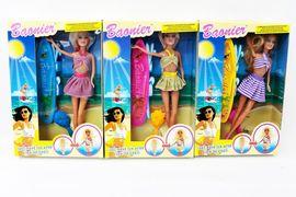 Кукла типа Барби, 4 вида, загорает под лампой, в коробке 22*5,5*33 см