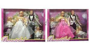 Кукла типа Барби, Семья, 2 вида, с Кеном, двумя дочерьми, в коробке 41*32*5.5 cм