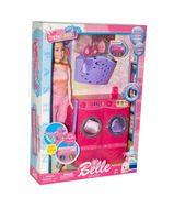 Кукла типа Барби, стиральная машинка, корзина для белья, с аксессуарами, в коробке 34*7*24 см