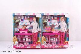 Кукла типа Барби, Доктор, 2 вид, пупсик, пеленальный столик, чемодан, медицинские инструменты, в кор