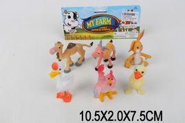 Животные мультяшные, 6 шт в пакете, 10,5*2*7,5 см