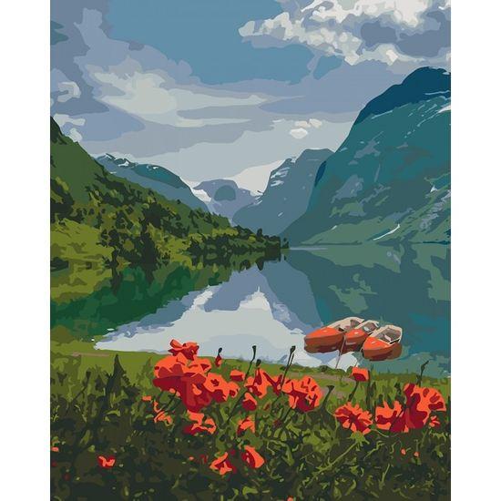 Набір для розпису по номерах. Краса Норвегії 40*50 см