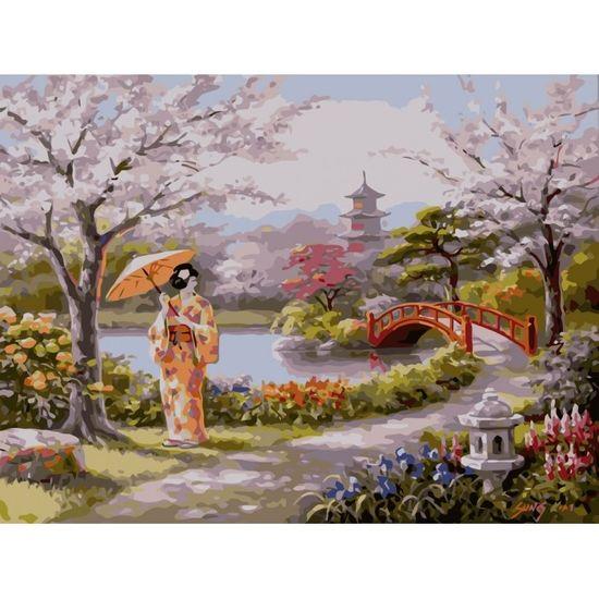 Набір для розпису по номерах. Пейзаж Намальований рай. 40х50 см. СЛОЖНОСТЬ 3*